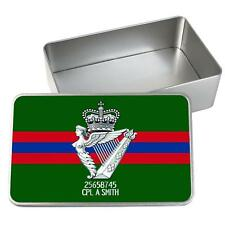 Personalised Royal Irish Regiment Tin Storage Keepsake Memory Box Gift MT42