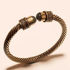 New Tibetan Silver Vintage Solid Brass Bangel Cuff Gemstone Jewellery Sh428