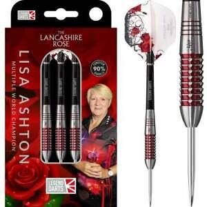 Legend Darts Steel Tip 90% Tungsten The Lancashire Rose Lisa Ashton Red 28 Grams