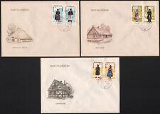 """1964, tutti insieme stampe """"popolo Trachten i"""" su 3 FDC con est. - x8033 -"""