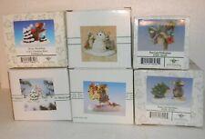 Fitz & Floyd Charming Tails Christmas Season Figurines Lot of 6 Nib