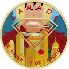 Canada 2016 5$ Superman Metropolis Gold 1 oz Silver BU Coin