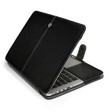Black Leather Laptop Cover Case Skin For Apple Macbook Pro 13 A1425 A1502 Retina