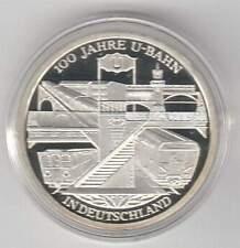 Duitsland 10 euro 2002 D Proof zilver PP: U-Bahn 100 Jahre