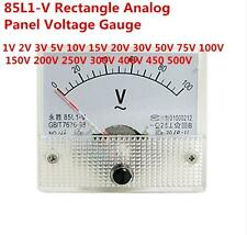 85L1-V Analogue AC Voltage Needle Panel Meter Voltmeter 1V 2V 3V 5V 10V 15V 20V