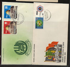 Malaysia   2  cachet  covers         KL0725