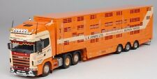 TEKNO 63680 SCANIA 144 L R 530 TRACTEUR 6X2 + SEMI BETAILLERE L.E. JONES LTD MIB