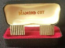 Cufflinks. Diamond Cut.