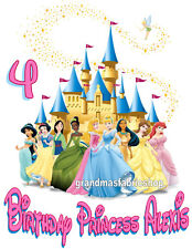 New Personalized Disney Princess Birthday T Shirt Add Name and Age to the design