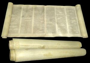 Ancient Torah Bible Scroll complete Book of Exodus 150-200 years old Europe