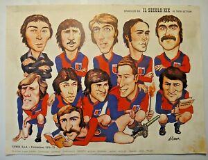 """OMAGGIO DEL """" IL SECOLO XIX """" GENOA FORMAZIONE 1976/77"""