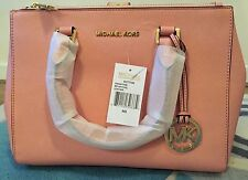 Genuine Women's Michael Kors Sutton Satchel Saffiano Leather handbag pink  sales