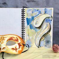 original artist's Sketch Book drawing Paper Pad art book ink drawings 86 sheet