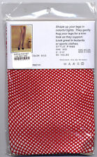 NWT 3 PAIRS OF SOPHIA FISHNET PANTYHOSE RED WHITE PURPLE One size 90-165 pounds