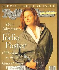 #600 MARCH 21 1991 ROLLING STONE vintage music magazine -- JODIE FOSTER