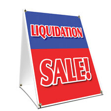 A-frame Sidewalk Sign Liquidation Sale With Graphics On Each Side