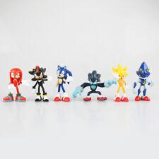 6pcs/set Super Sonic The Hedgehog Action Figure Toy for Kids Gift
