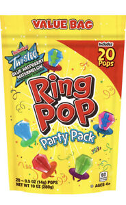 Ring Pop Individually Wrapped Bulk Lollipop Variety Party Pack – 20 Count