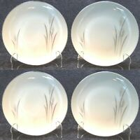 """Fine China of Japan Platinum Wheat Bread Plates 6 3/8"""" Set of 4 Excellent"""