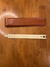 Vintage 1959 Pickett Medal Slide Rule Model N1010-T Trig with Leather Case