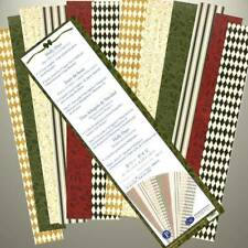 Creative Memories - HOLLY DAYS - 12 x GREAT LENGTH STRIPS OF PRINTED PHOTO PAPER