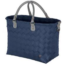 HANDED BY Shopper Saint-Tropez ocean blue blau Tasche Korb geflochten Bag Öko