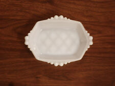 VINTAGE MILK WHITE GLASS BUTTER DISH