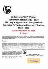 BILL WHATLEY TOTTENHAM HOTSPUR 1929-1938 EXTREMELY RARE ORIGINAL SIGNED CUTTING