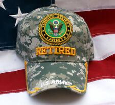 US ARMY RETIRED DIGITAL HAT RETIREMENT GIFT WOWAH PIN UP MILITARY VETERAN WOW