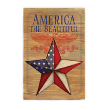 "29""x43"" AMERICA THE BEAUTIFUL EAGLE Stars & Stripes Barn Star Large Banner Flag"