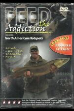 """Feed the Addiction """"NORTH AMERICAN HOTSPOTS,"""" Fishing DVD 2008 NEW SEALED"""