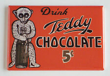 Teddy Chocolate FRIDGE MAGNET (2 x 3 inches) sign sign milk bear drink poster