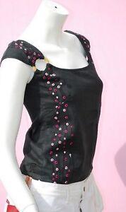 top chemise debardeur KANABEACH chanvre taille 36 neuf