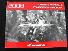 2008 HONDA CRF250X 250 DIRT BIKE MOTORCYCLE OWNERS MANUAL & COMPETITION HANDBOOK