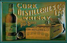 Cork Distilleries Co. Whisky Blechschild Schild 3D geprägt Tin Sign 20 x 30 cm