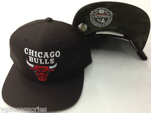 NBA Chicago Bulls Mitchell and Ness Hardwood Classics Fitted Cap Hat M&N NEW!