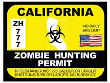 California Zombie Hunting Permit (Bumper Sticker)