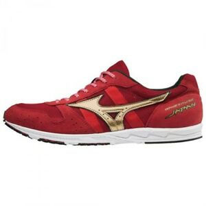 Mizuno Running shoes WAVE CRUISE JAPAN  U1GD1810 Red × Gold Made in Japan