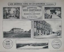 1908 CHATEAU VIEUX CHANTECAILLE BORDEAUX WINE WINERY HENRY GUILLIER FRENCH VIEWS