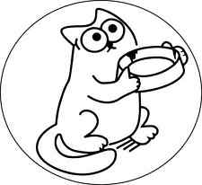 New Hungry Simon's Cat sticker funny car decal 3M vinyl sign size 4x3.5 inches