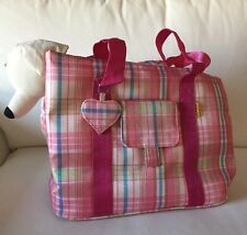 NEW Pink Plaid Small Dog Pet Carrier Shoulder Bag up to 13 lbs