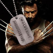 Metal Wolverine X-Men James Logan Military Dog Tag Alloy Pendant Chain Necklace