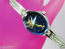 P94:New $29.99 Disney TinkerBell Women Analog Watch from USA-Silver Tone