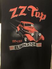 Zz Top Est 1969 Eliminator Tour 2017 T-Shirt Small Black