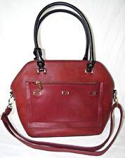 BESSIE Handbag London ( Dark maroon red )