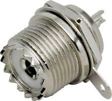 12000* PL- ( SO 239 )- UHF- Einbaubuchse, Zentralbefestigung-Einlochmontage