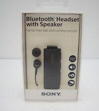 Sony SBH56 Bluetooth Headset with Speaker, Black - Retail Packaging