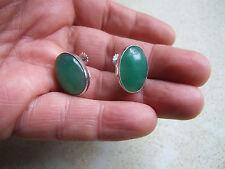 Art Deco Jade White Gold Earrings