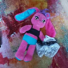 Build A Bear Pink Rabbit With Dress Soft Plush Toy