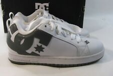 DC SHOES- MEN'S COURT GRAFFIK SE WHITE BATTLESHIP   size   8 P